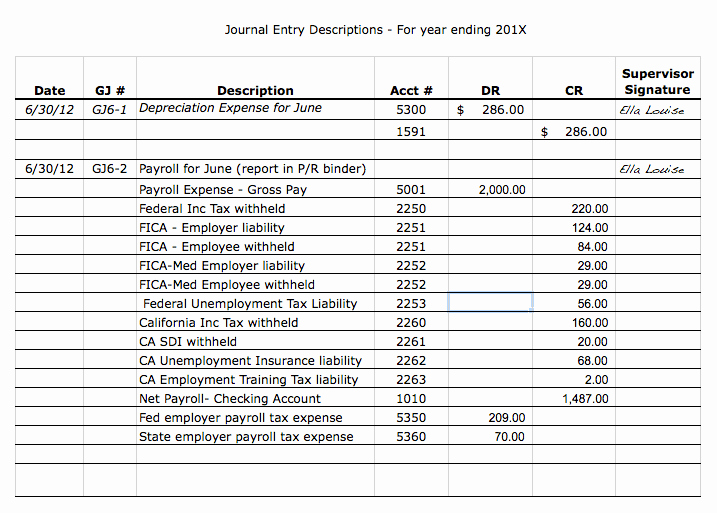 Journal Entry Template Excel Inspirational Tracking Your Accounting Journal Entries Aplos Academy