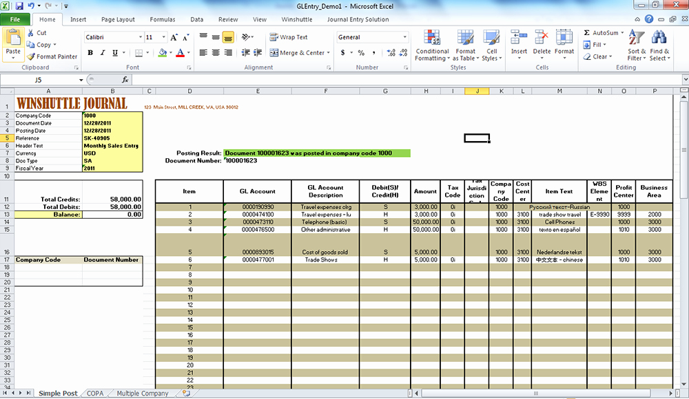 Journal Entry Template Excel Lovely Improving Sap Journal Entry Processes