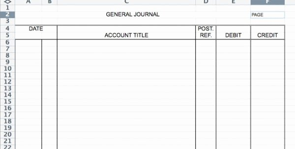 Journal Entry Template Excel Luxury Accounting Journal Entry Template Accounting Journal