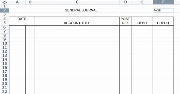 Journal Entry Template Excel Unique Accounting Journal Template Spreadsheet Templates for