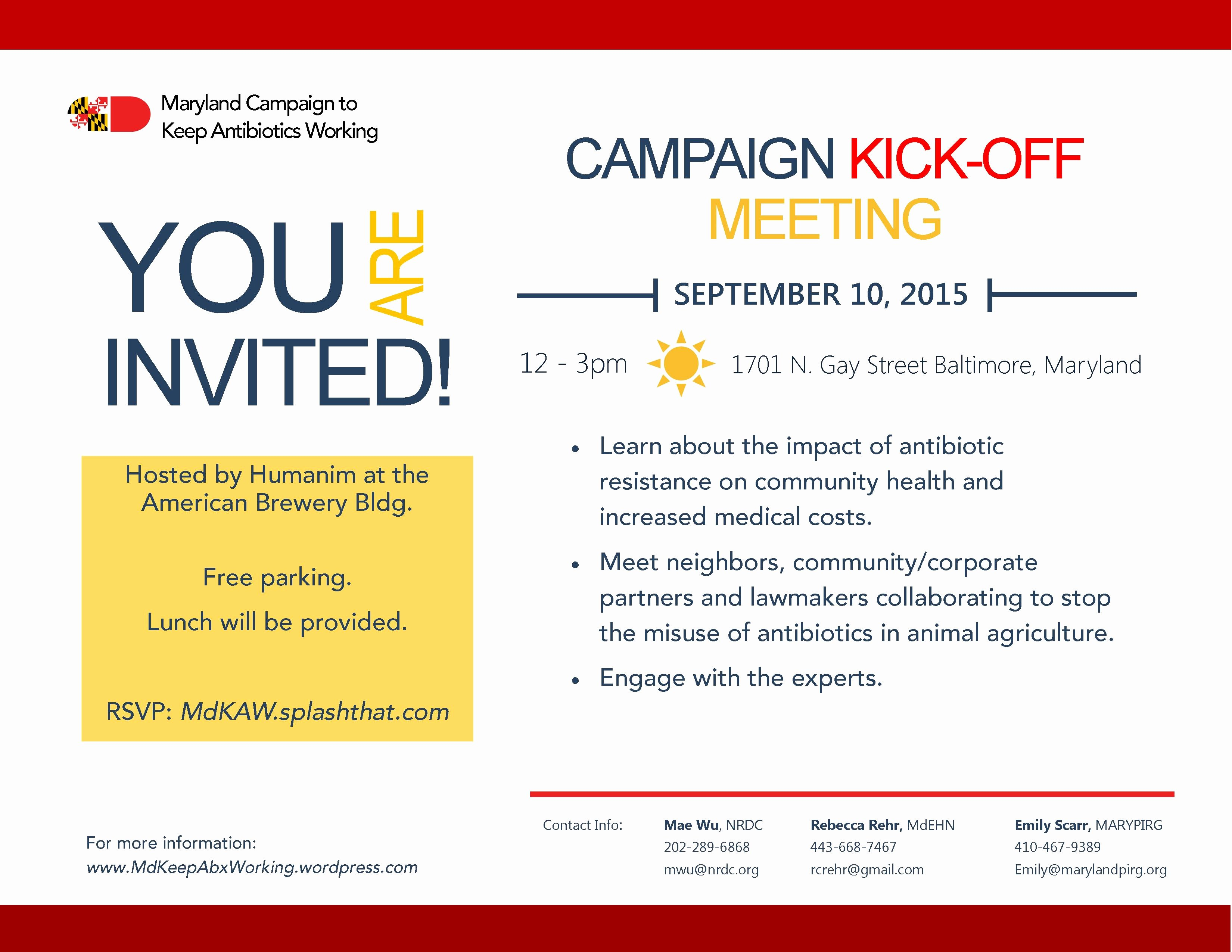 Kick Off Meeting Template Awesome Campaign Kick F Meeting Details – Maryland Campaign to