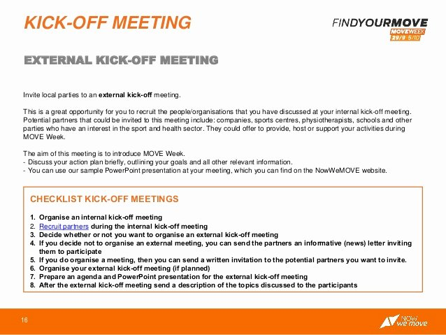 Kick Off Meeting Template Beautiful 2014 Move Agents toolkit
