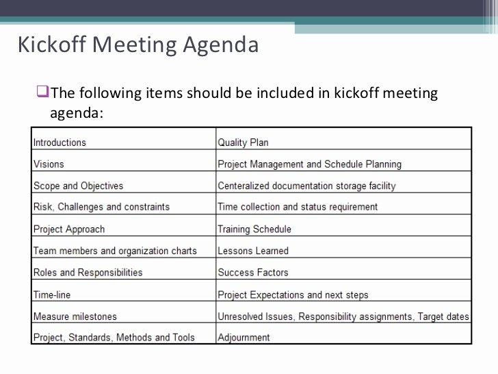 Kick Off Meeting Template Beautiful Project Status Meeting Agenda Template