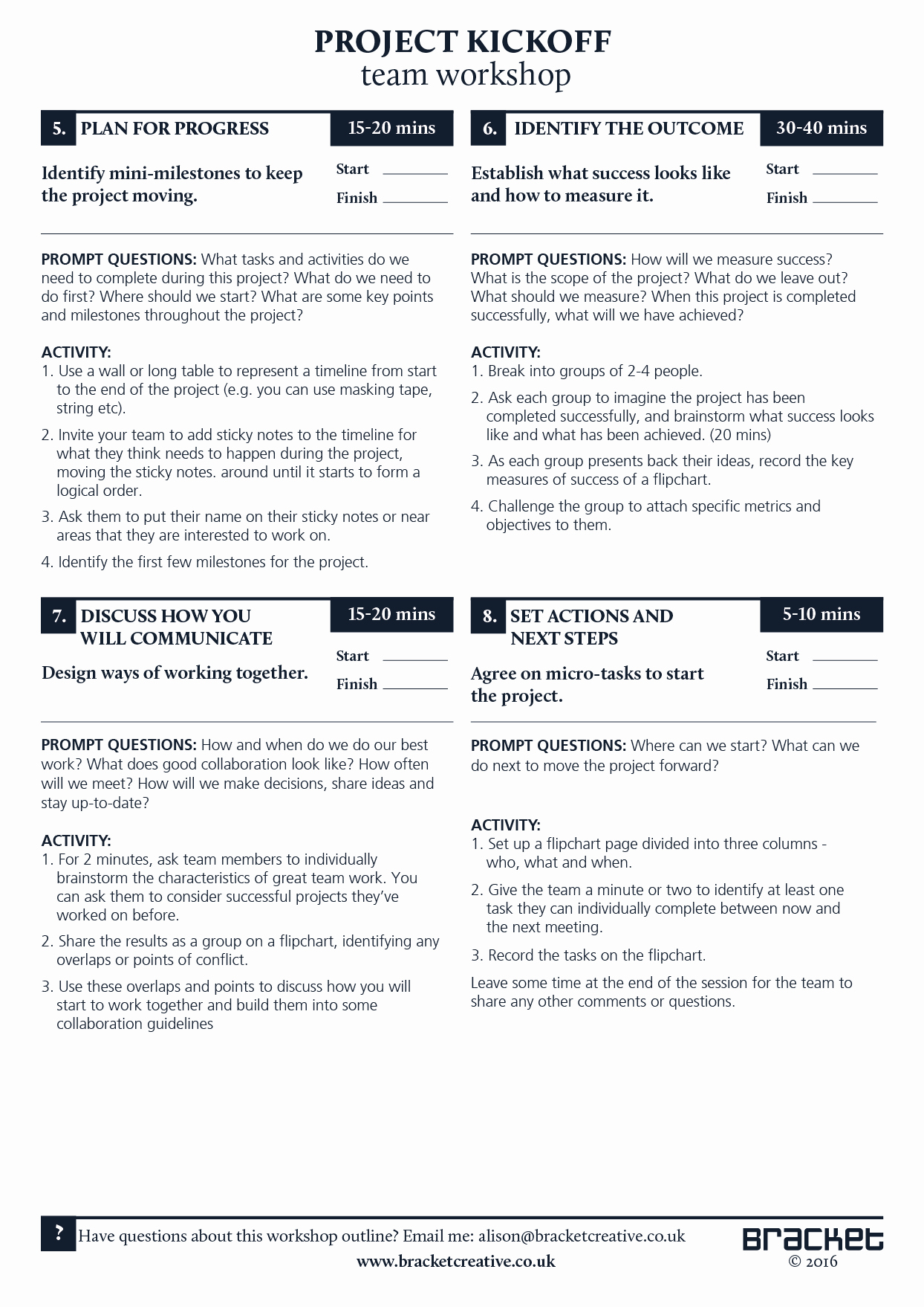 Kick Off Meeting Template Inspirational Project Kickoff Template