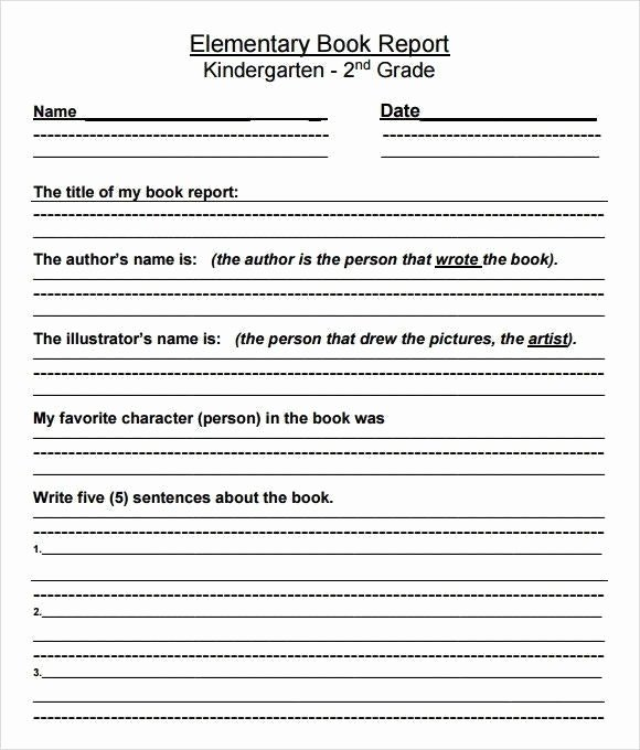 Kindergarten Book Report Template Awesome Kindergarten Book Report Worksheet Piqqus