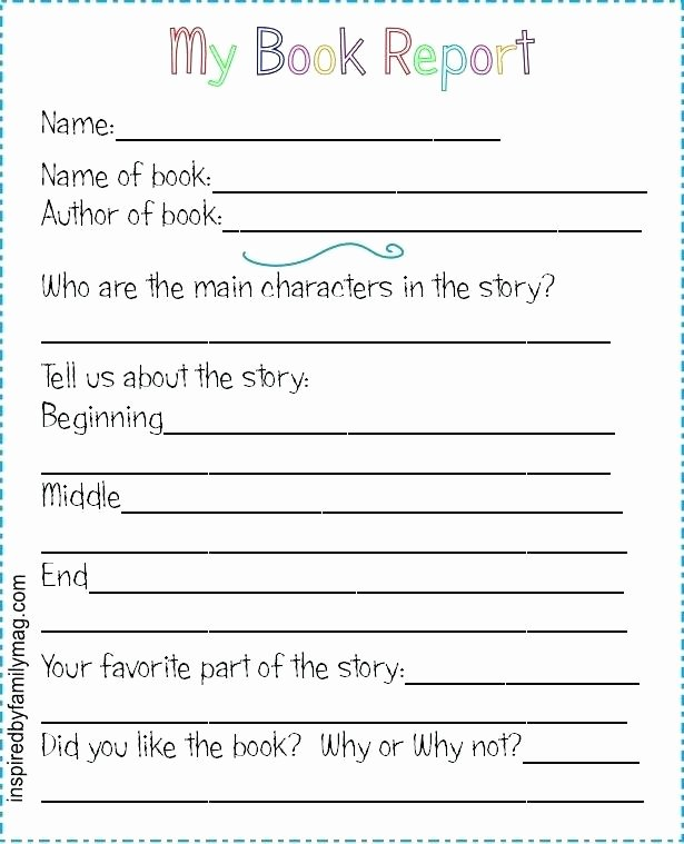 Kindergarten Book Report Template Beautiful Kindergarten Book Report Worksheet Piqqus