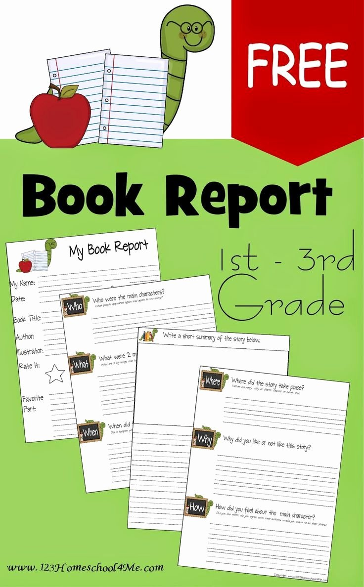 Kindergarten Book Report Template Fresh Free Book Report Template