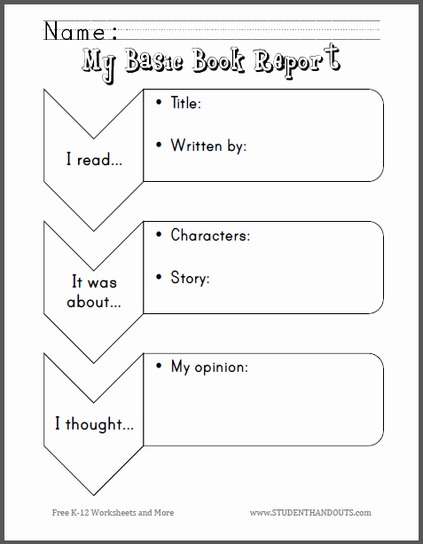 Kindergarten Book Report Template Luxury Free Printable Worksheet Scroll Down to Print Pdf