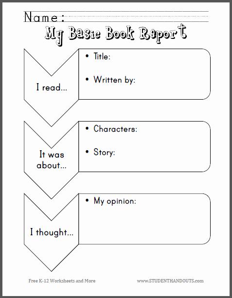 Kindergarten Book Report Template Luxury Free Printable Worksheet Scroll Down to Print Pdf