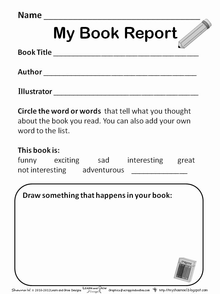 Kindergarten Book Report Template New Preschool Book Report Template Google Search
