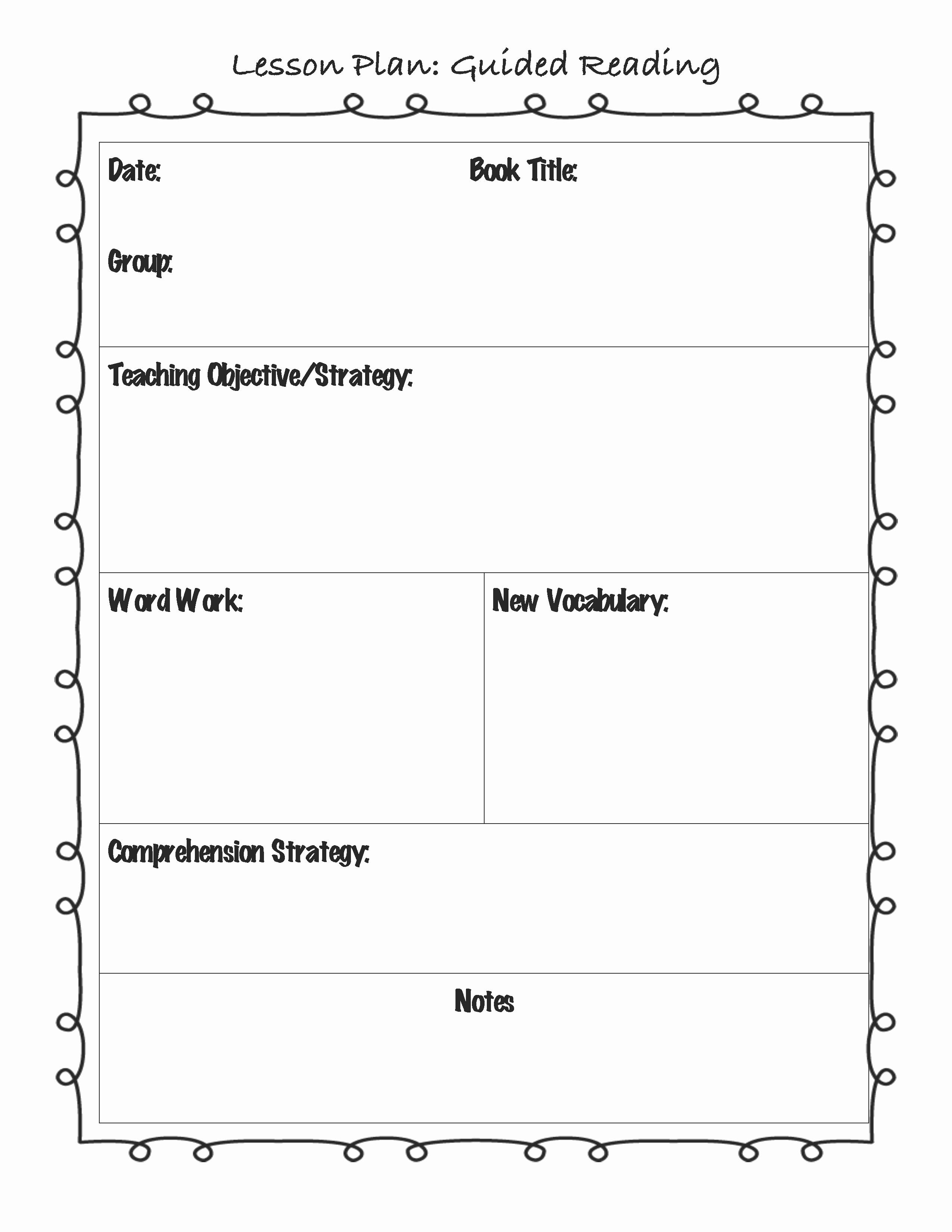 Kindergarten Lesson Plan Template Unique Englishlinx