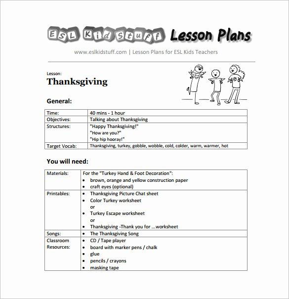 Kindergarten Lesson Plan Template Unique Kindergarten Lesson Plan Template 3 Free Word Documents