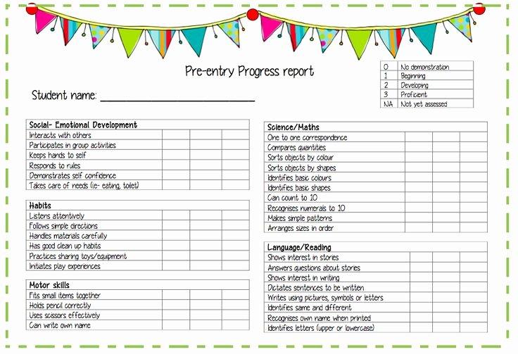 Kindergarten Progress Report Template Inspirational 1000 Images About Preschool Progress Reports On Pinterest