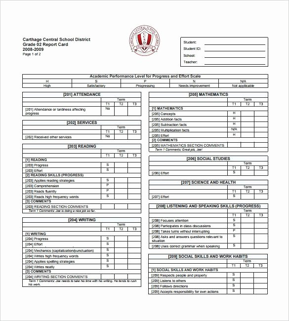 Kindergarten Report Card Template Lovely Curriculum Pages for Planner Child Progress Report