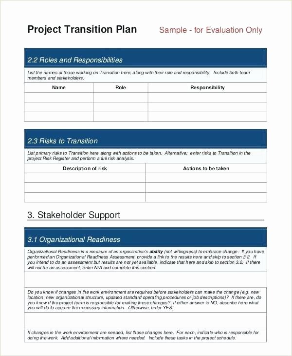 Knowledge Transition Plan Template Best Of Transition Plan Template Ppt