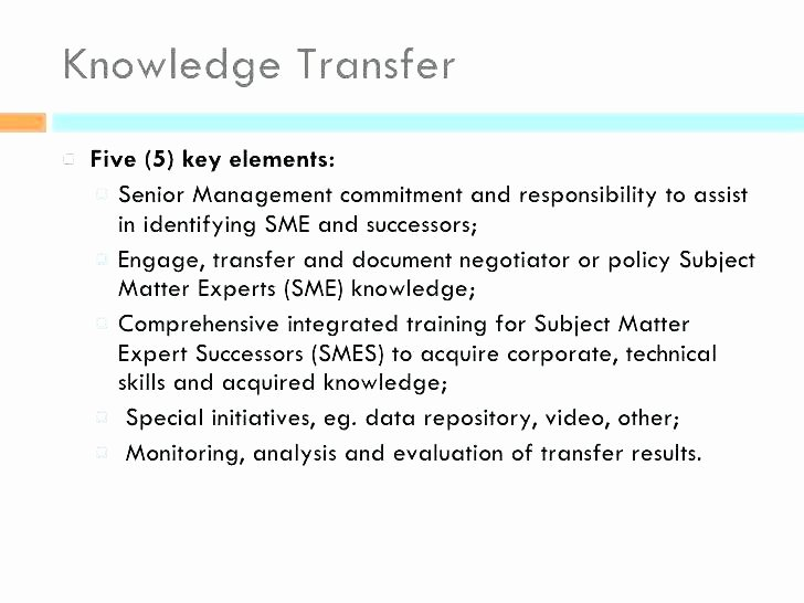 Knowledge Transition Plan Template Elegant Knowledge Transfer Plan Template – Arianet