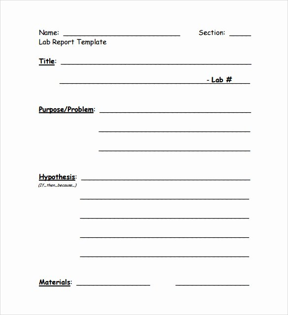 Lab Report Template Word Best Of Prac Report Template Templates Collections