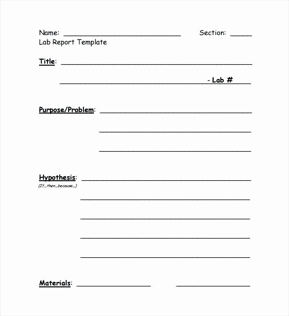 Lab Report Template Word Elegant Experiment Write Up Template – Rightarrow Template Database