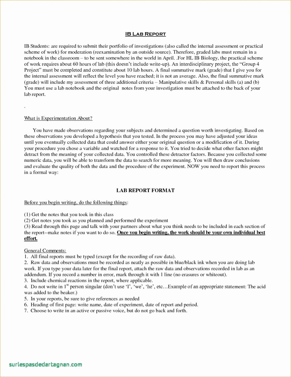 Lab Report Template Word Lovely Physics Lab Report Example