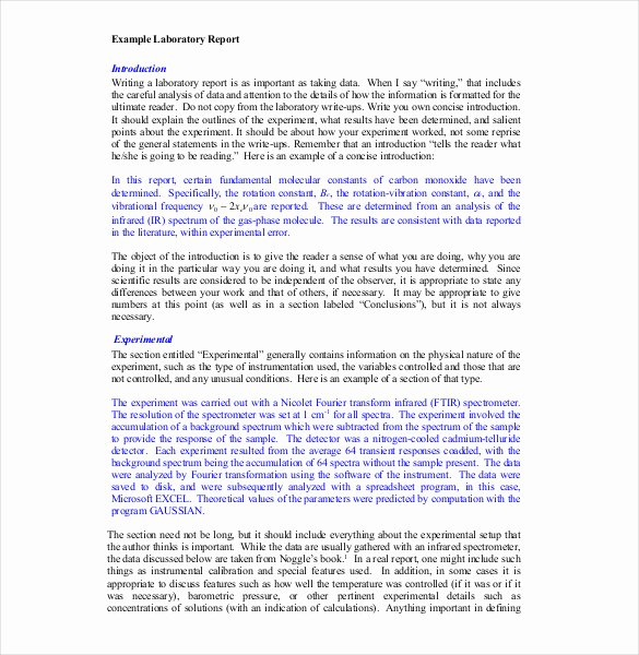 Lab Report Template Word Luxury 28 Lab Report Templates Pdf Google Docs Word Apple