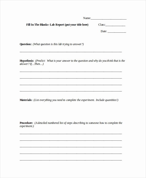 Lab Report Template Word New Word Report Template 8 Free Word Document Downloads