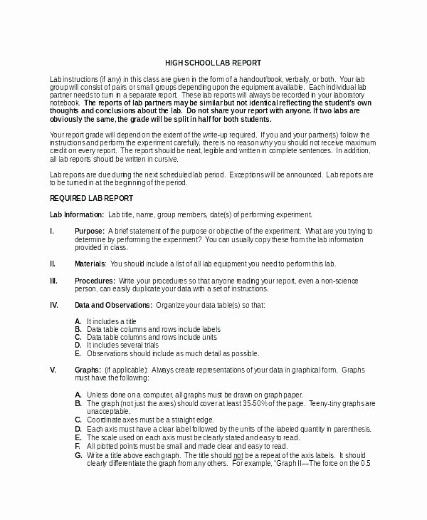 another formal lab report format science template scientific prac physics experiment example