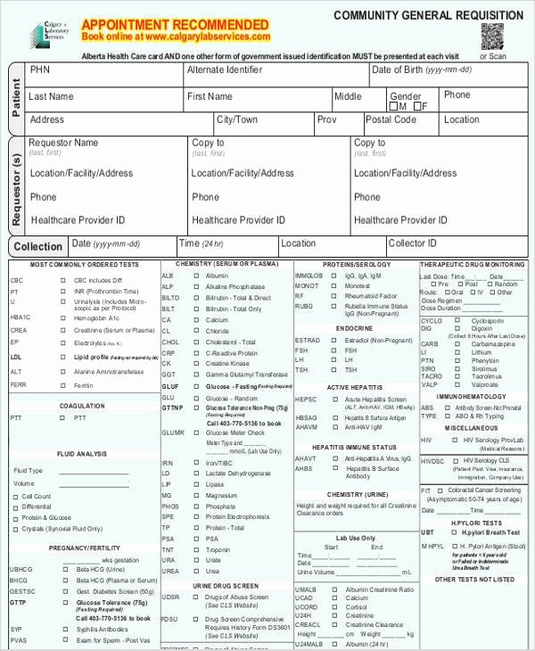 Lab Requisition form Template Best Of Requisition form Example