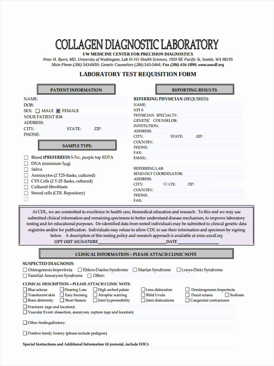 Lab Requisition form Template Elegant Lab Requisition form Template Image Collections