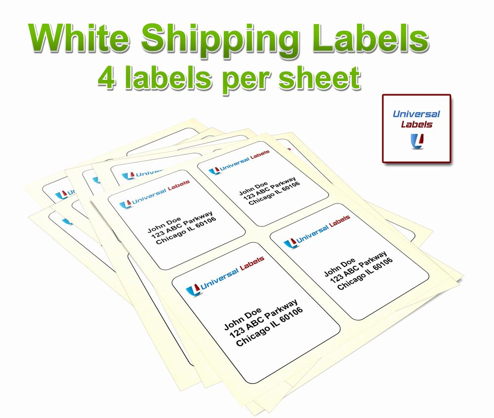 Labels Template for Pages Elegant 1000 4 X 5 Label Template 5168 4 Per Page Laser