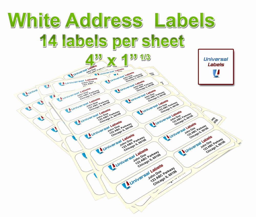 "Labels Template for Pages New 3500 1 1 3 X 4"" Labels 14 Labels Per Sheet Same Size as"