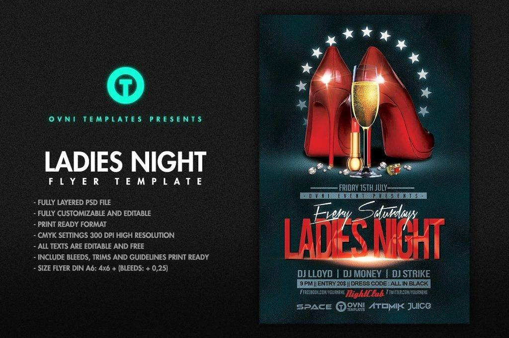 Ladies Night Flyer Template Awesome 16 La S Night Flyer Designs & Examples – Psd Ai