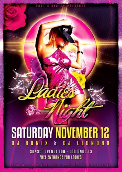 Ladies Night Flyer Template Awesome La S Night Flyer Design Template V2 Premium & Free