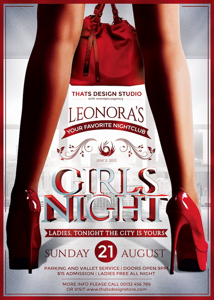 Ladies Night Flyer Template Awesome La S Night Flyer Template V9