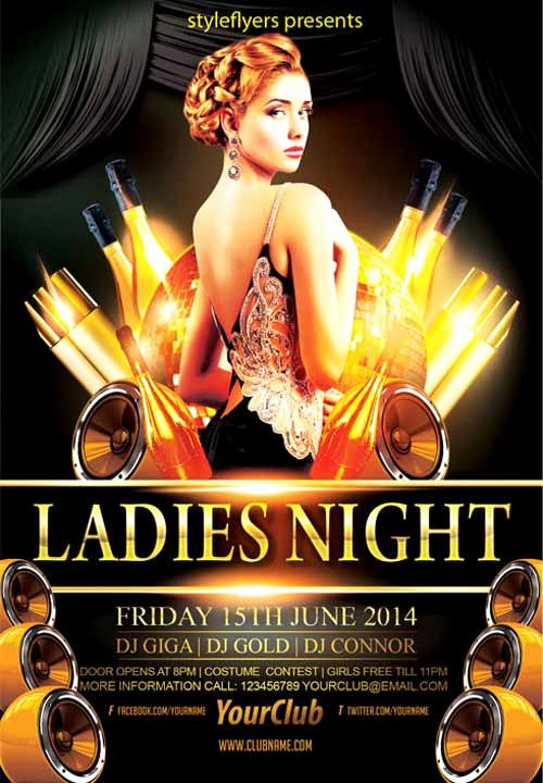 Ladies Night Flyer Template Best Of Download the Elegant La S Night Party Free Flyer Template