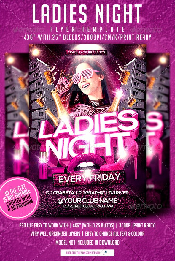 Ladies Night Flyer Template Best Of La S Night Flyer Template by Crabsta52