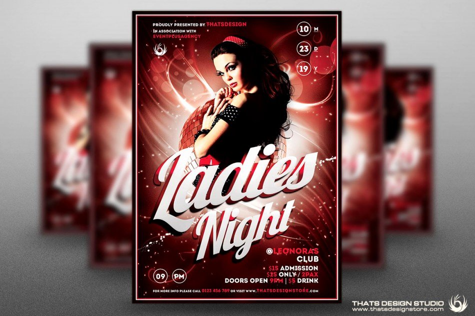 Ladies Night Flyer Template Elegant La S Night Flyer Templates