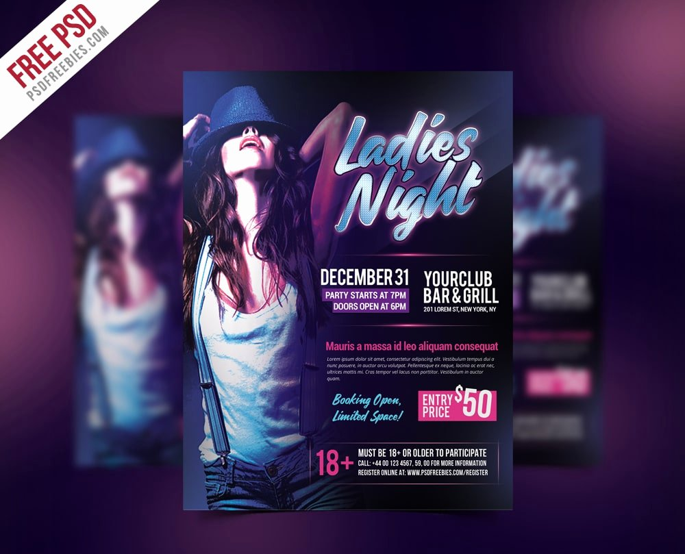 Ladies Night Flyer Template Fresh Free Flyer Templates Psd From 2016 Css Author
