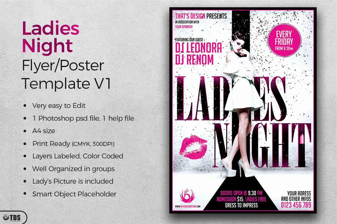 Ladies Night Flyer Template Fresh La S Night Flyer Poster Template