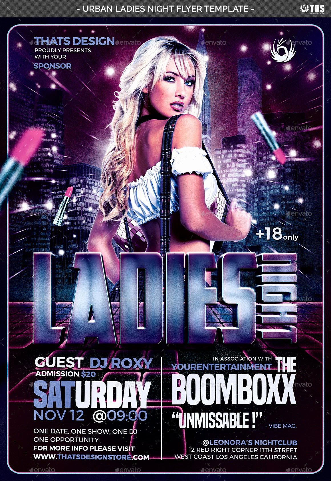Ladies Night Flyer Template Fresh Urban La S Night Flyer Template by Lou606