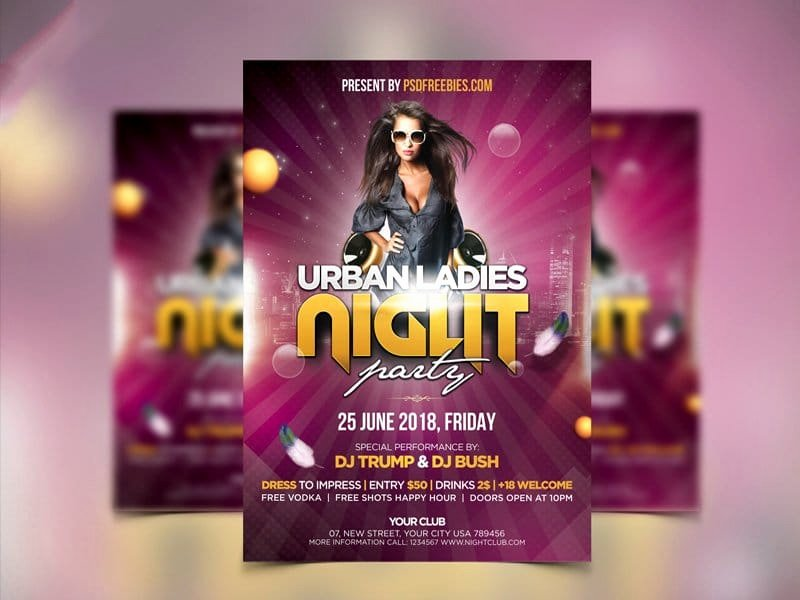 Ladies Night Flyer Template Inspirational Best Free Flyer Templates Psd Css Author