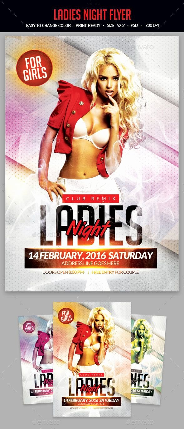 Ladies Night Flyer Template Inspirational La S Night Flyer