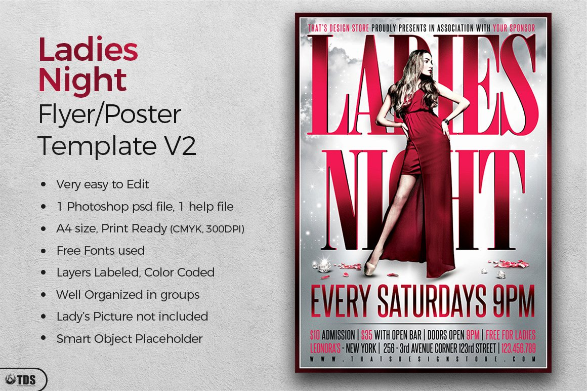 Ladies Night Flyer Template Inspirational La S Night Flyer Poster V2