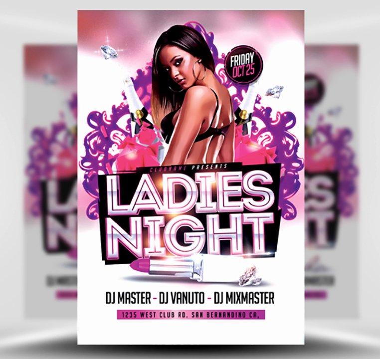 Ladies Night Flyer Template Inspirational La S Night Flyer Template 3 Flyerheroes