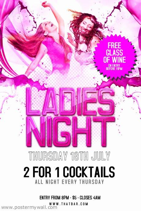 Ladies Night Flyer Template Luxury La S Night Flyer Template