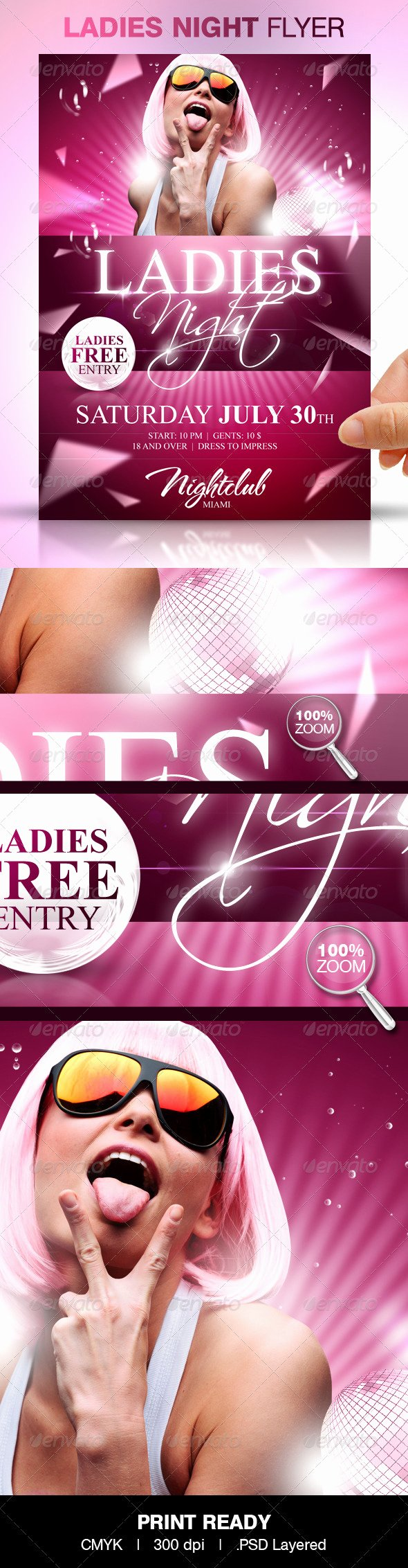 Ladies Night Flyer Template Luxury La S Night Party Flyer