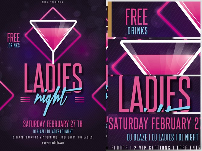 Ladies Night Flyer Template New La S Night Flyer Template V2 Flyerheroes