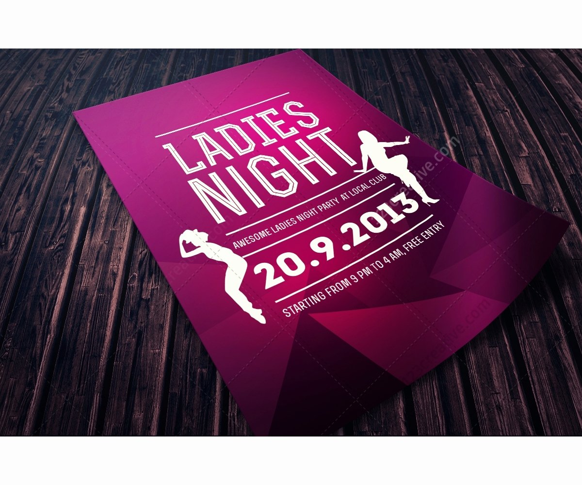 Ladies Night Flyer Template Unique La S Night Flyer Template Psd Template for Music Club