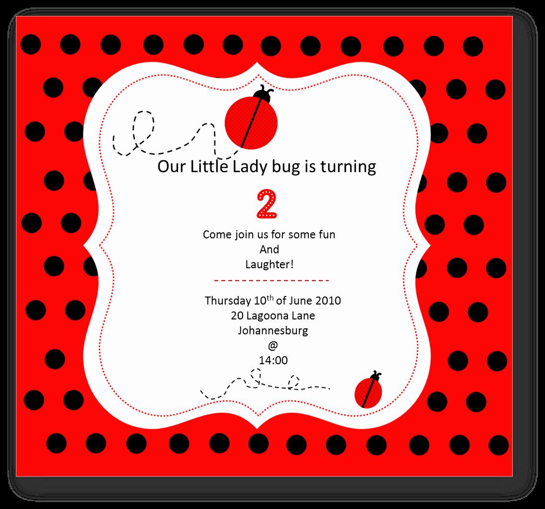 Ladybug Invitations Template Free Beautiful Just Baking Little Lady Bug Inspiration