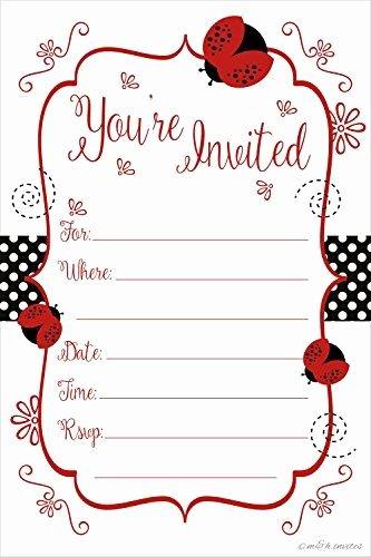 Ladybug Invitations Template Free Elegant Printable Baby Shower Invitation Templates Free Shower