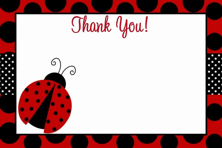Ladybug Invitations Template Free Inspirational Red and Black Polka Dot Ladybug Birthday Invitations with